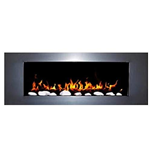 Gel and Ethanol Wall Fireplace White – Elegant Design – 1000 and One Night (High Gloss Silver)