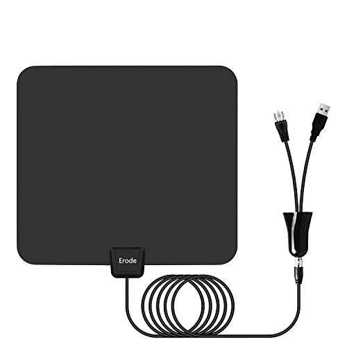 Amplified HDTV Antenna 60-120Miles Range with 2019 Newest Powerful Amplifier Signal Booster, Support 4K 1080P for All Old TVs w/ 13.2ft Coaxial Cable