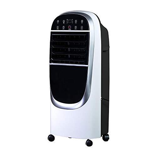 OZEANOS Eisblower OT-EC-1200 Refroidisseur évaporatif mobile sans tuyau d'évacuation jusqu'à 72 m³, 220-240 V, 50 Hz, 70 dB, 40-130 W Noir/blanc