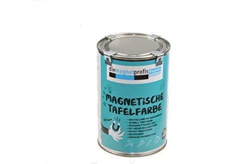 2 in 1 Magnetische Tafelfarbe, Tafelfarbe matt, magnetisch, extreme Haftkraft, allergikerfreundliche Wandfarbe für innen, ohne Konservierungsmittel schwarz, 1 Liter