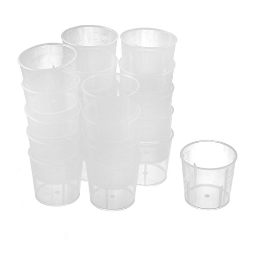 uxcell 30mL Chemistry Experiment Tool Water Liquid Measuring Cup 20pcs