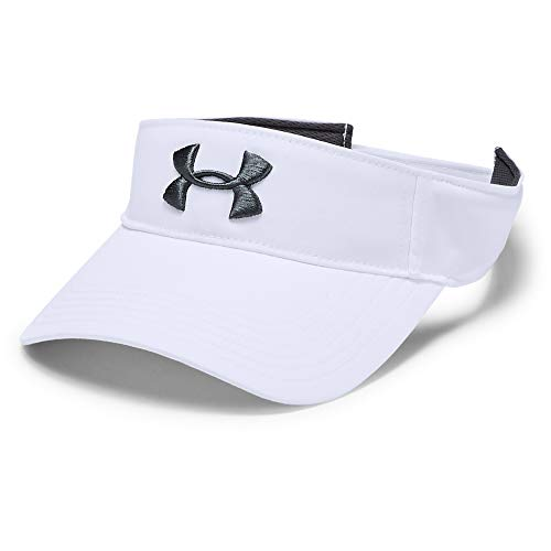 Under Armour Men's Core Golf Visor , White (100)/Pitch Gray , One Size Fits All