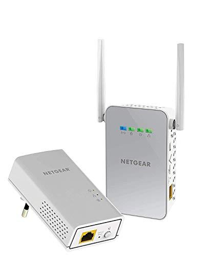 NETGEAR PLW1000-100PES Powerline-Adapter Set (AC WLAN Access Point, 1 x Gigabit-Port, bis zu 1000 Mbit/s, HomePlug AV2) weiß