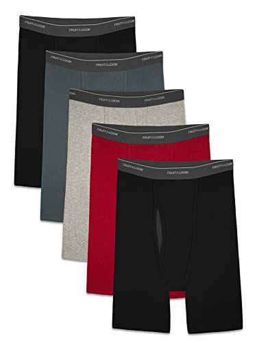 Fruit of the Loom Men's CoolZone Boxer Briefs, long Leg - Assorted Colors, Large