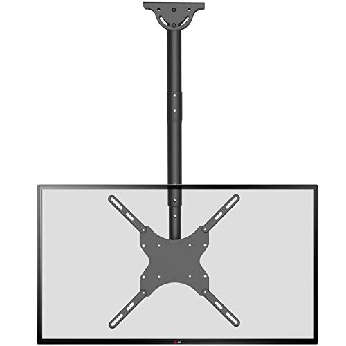 TV Ceiling Mount Adjustable Bracket Fits Most LED, LCD, OLED and Plasma Flat Screen Display 26 to 65 inch, up to 110 lbs, VESA 400 by 400mm (CM2665), Black by WALI