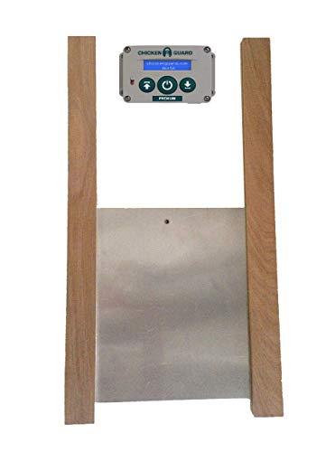 Premium Automatic Chicken Coop Pop Door Opener & Door Kit Combo