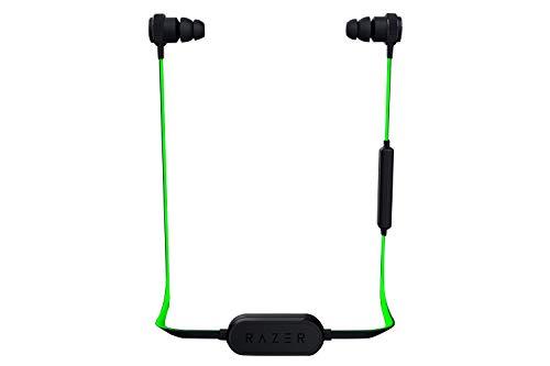 Razer Hammerhead Bluetooth - Wireless In-Ear Headset mit bis zu 8 Stunden Akkulaufzeit für Apple iPhone und Android (Earbuds Ohrhörer, 10-mm Treiber, In-Line-Fernbedienung, Halsband mit Magnetclip)