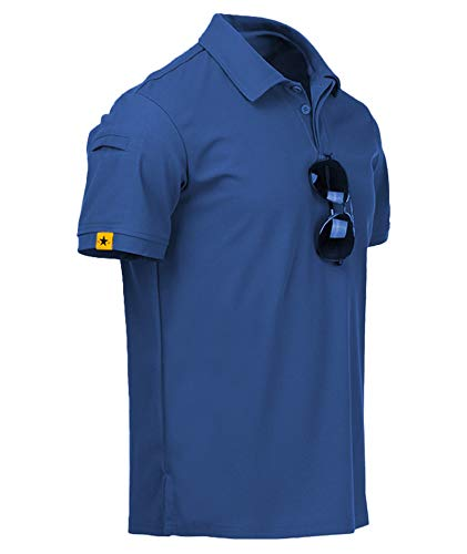 ZITY Mens Polo Shirt Cool Quick-Dry Sweat-Wicking Short Sleeve...