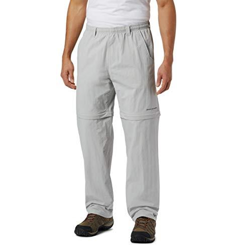 Columbia Men's Backcast Convertible Pant, Cool Grey, Mediumx30