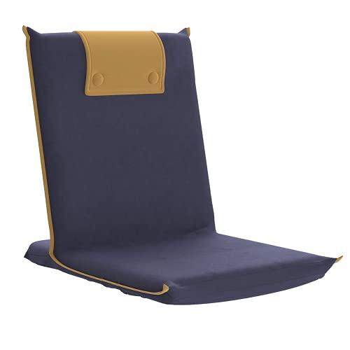 bonVIVO Easy III Sedia Pieghevole da Pavimento, Sedia da Yoga, Sedia Portatile da Pavimento – Meditation Chair Imbottita Utilizzabile Come Comoda Alternativa al Cuscino da Meditazione – Blu