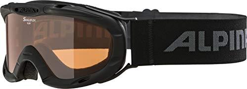 Alpina Kinder Skibrille Ruby S, Rahmenfarbe: Black, One Size