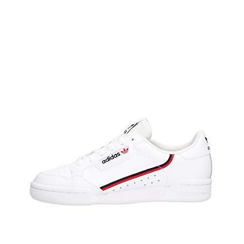 Adidas Continental 80 J, Zapatillas de Deporte, Blanco (Ftwbla/Escarl/Maruni 000), 38 EU