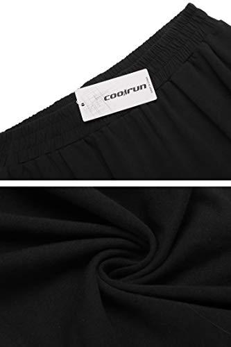 coorun Yoga Jogger for Women Workout Pants Oversized Lounge Trousers Casual Pants Classic Sweatpants Black 4