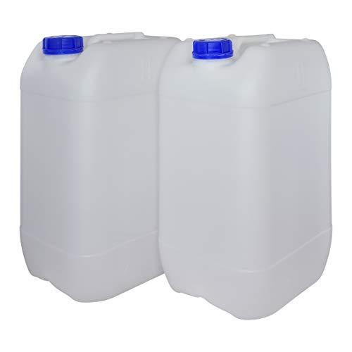 Bidón Garrafa Plástico 25 litros apilable. Apta para uso a