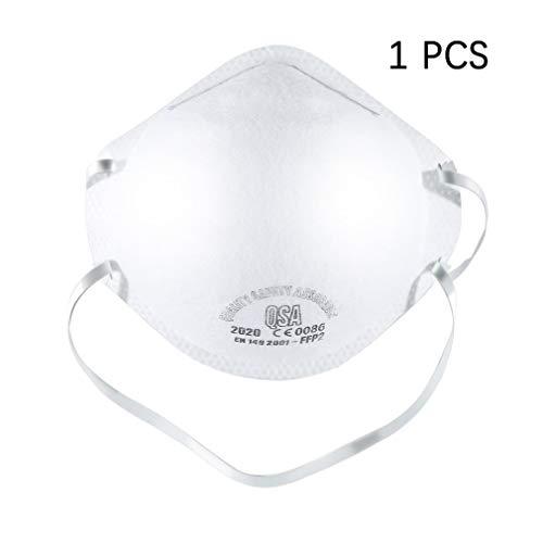 Maschera monouso N95, Clip nasali Regolabili Maschera respiratoria con Filtro FFP2 al 95% Maschera Anti-polmonite Anti-polmonite PM2.5, Fumo, Polvere, levigatura, segatura, spazzamento(1PCS)