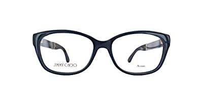 Brand: Jimmy Choo Model: JC178 Style: Full Rim Cat Eye Temple/Frame Color: Black/Glitter - FA3 Size: Lens-53 Bridge-15 B-Vertical Height-38.3 ED-Effective Diameter-56.2 Temple-140mm Gender: Women's Rx-Able Made In: Italy