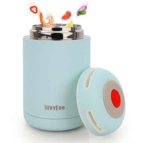 WayEee Thermos per Alimenti 460ml Contenitore Termico Alimentare in Acciaio Inossidabile Contenitore...