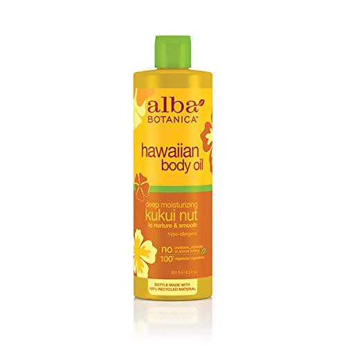 Alba Botanica Hawaiian Body Oil, Deep Moisturizing Kukui Nut, 8.5 Oz