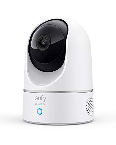eufy Security 2K caméra intérieure de sécurité du Domicile,détection des Humains et Animaux par l'IA,Compatible avec Les Assistants vocaux,Vision Nocturne,Carte microSD requise,HomeBase Non requise