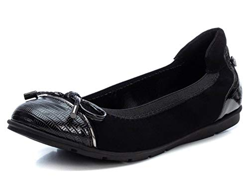 XTI - Zapato Bailarina para Mujer - Color Negro - Talla 38