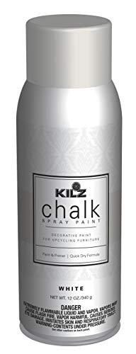 KILZ L540546 Chalk Spray Paint for Upcycling Furniture, 12 oz. Aerosol, White