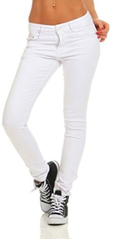 Fashion4Young-4345-Damen-Hose-Rhre-Skinny-Treggings-Slim-Fit-Jeans-Stretch-Denim-bergren-Slimline-wei-L-40