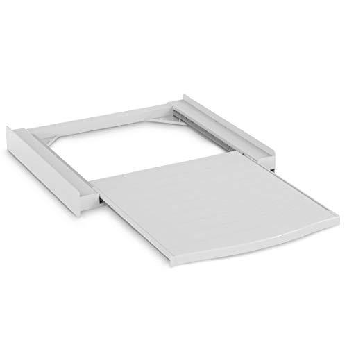 Xavax Smart Kit d'empilage pour machine à laver/sèche-linge, plateau extractible, plastique, blanc