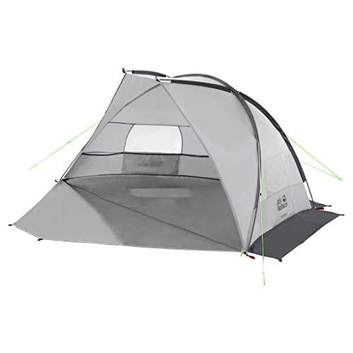 Jack Wolfskin Beach Shelter III, windfeste Strandmuschel mit UV Schutzfaktor 50+, Strandzelt für 2 bis 3 Personen, stabiler Sonnenschutz aus wasserabweisendem Material
