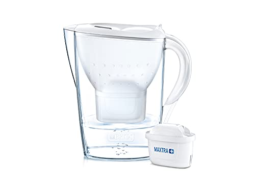 BRITA Marella XL German Made Water Filter Jug 3.5 liters White With Activated Micro Carbon Pearls...