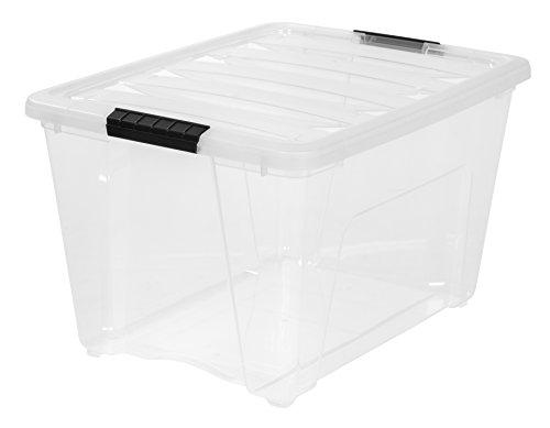 IRIS Stack & Pull Clear Storage Box, 53 Quarts