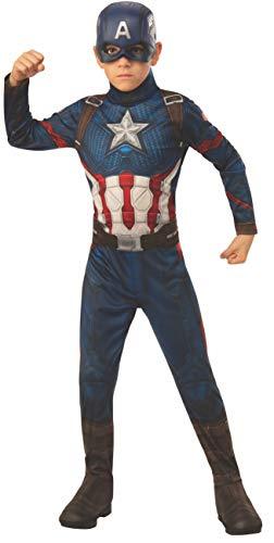 Rubie's - Disfraz oficial de los Vengadores del Capitán América, talla Large - 8-10 años