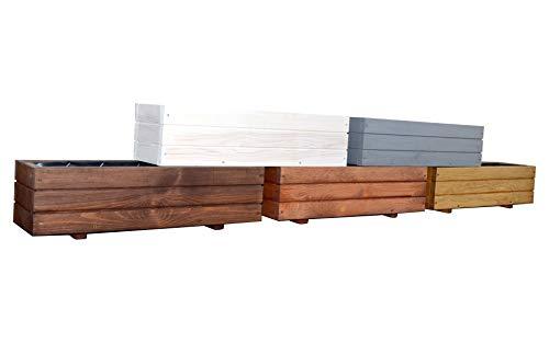 KENA D-6 Garden Holz Pflanzkasten Höchste Qualität Länge 60/90 cm (Länge 60 cm, Nuss)