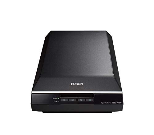 Epson Perfection V550 Photo Scanner con Risoluzione Ottica di 6400 dpi, Digital ICE, Scansione su...