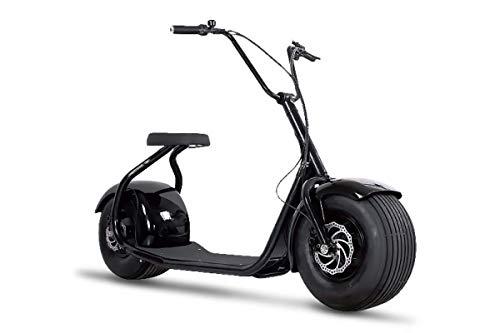 Elektroroller ohne Straßenzulassung Chopper X5, E-Scooter, E-Roller, E Roller E-Scooter Elektro Roller Scooter, 2000 Watt, Schwarz