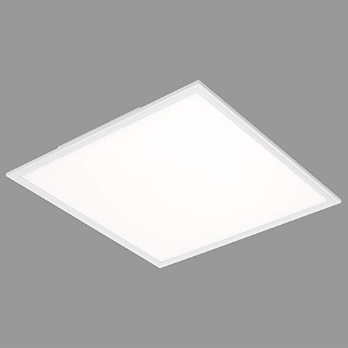 Briloner Leuchten 7192-016 - Pannello a LED da soffitto Quadrato, 38 Watt, 4100 Lumen, Luce Bianca Neutra 4000 K