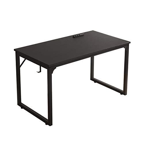 Flrrtenv Home Office Desk, Modern Industrial Simple Style Computer Desk, Workstation, Sturdy Writing Desk (39', Black)