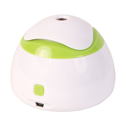 HealthSmart Travel Mate Personal Ultrasonic Cool Mist USB Humidifier, Relief for Dry Skin, Compact and Personal, Quiet, Filter Free