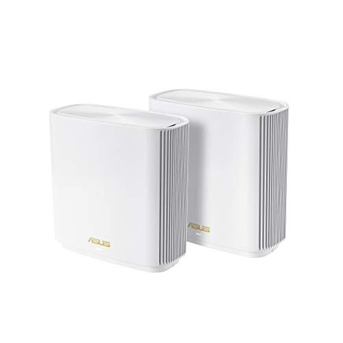 ASUS ZenWiFi AX Whole-Home Tri-Band Mesh WiFi 6 System (XT8) - 2 Pack,...