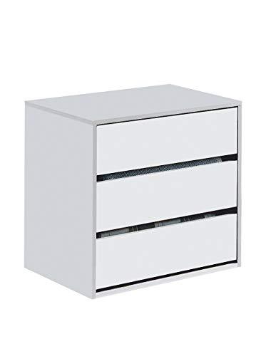 Habitdesign ARC6030 - Cassettiera Arc con Tre cassetti Colore Bianco Opaco, Misure: 60 cm...