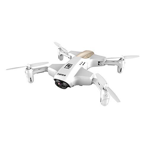 PNJ - Drone fotocamera tascabile pieghevole, pilotaggio via smartphone, colore: Argento