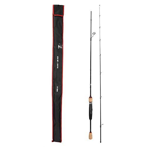 Cocoarm Ultraleicht Tragbare Spinnrute Kohlefaser Angelrute 1.8m Steckrute Outdoor Angelrute