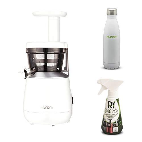 Hurom - Estrattore di Succo Verticale HP - Bianco + Detergente mini + Bottiglia Termica inclusi nel...
