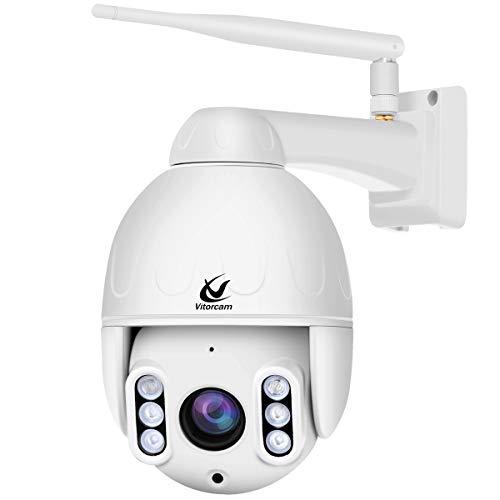 5.0MP PTZ Telecamera di Sorveglianza IP, Vitorcam Telecamera Wi-fi Esterno, telecamera motorizzata ONVIF Videosorveglianza P/T 5X Zoom