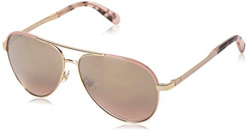 Kate Spade New York Women's Amarissa Aviator Sunglasses, GOLD PINK/GOLD GRADIENT PINK, 59 mm