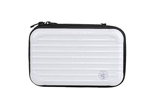 SOMEWHERE HAUTE Mini Hard Shell Travel Cosmetic Case (White)