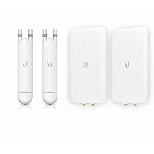 UniFi AP Mesh UAP-AC-M-US Dual-Band Access Point (2-Pack) + UMA-D Dual-Band Directional Antenna (2-Pack)