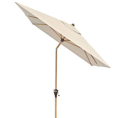 Doppler Alu Wood – Rechteckiger Sonnenschirm für Balkon und Terrasse – Edle Holzoptik – 300x200 cm – Natur