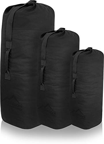 normani US Canvas-Baumwolle Seesack Duffle Bag Classic Sea Farbe Schwarz Größe 125 x 75 cm