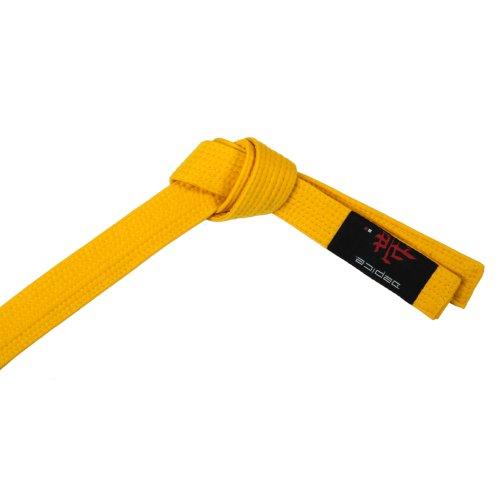 DEPICE Gürtel Karategürtel Judogürtel - Expositor de Cinturones de Artes Marciales, Color Amarillo, Talla DE: 200 cm