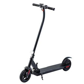 MIMI KING Kick Scooter eléctrico Plegable y portátil de Largo Alcance del Viajero Vespa 350W Motor Ultraligero Faros LED